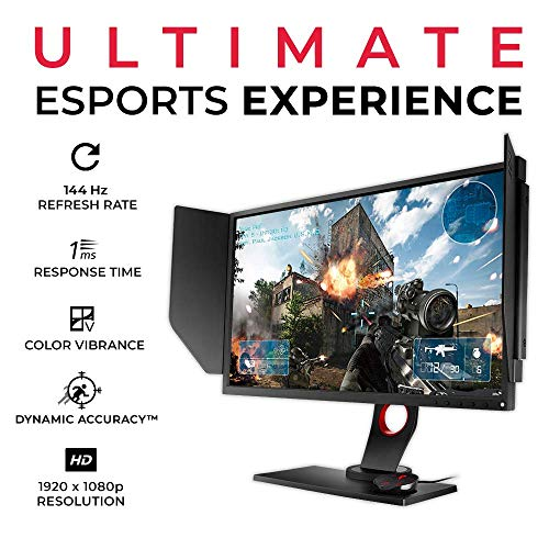 BenQ ZOWIE XL2536 24.5 inch 144Hz Gaming Monitor | 1080p 1ms | Dynamic Accuracy & Black Equalizer for Competitive Edge | S-Switch for Custom Display Profiles | Shield