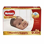 Branded Huggies Little Snugglers Size 1 Diapers, 204 ct. (diapers - Wholesale Price (Bulk Qty at Whoesale Price, Genuine & Soft Baby diaper)