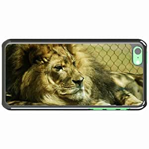 iPhone 5C Black Hardshell Case mane thick beasts Desin Images Protector Back Cover
