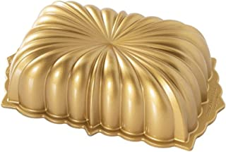 product image for Nordic Ware Classic Fluted Cast Loaf Pan, 6 Cup Capacity, Gold