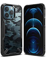 Ringke Fusion-X Compatible with iPhone 13 Pro Max Case, Clear Hard Back Heavy Duty Shockproof Advanced Protective TPU Bumper Phone Cover (Camo Black)