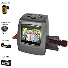 "DIGITNOW Film scanner with 22MP Converts 126KPK/135/110/Super 8 Films, Slides, Negatives into Digital Photos,2.4"" LCD Screen, Impressive 128MB Built-In Memory"