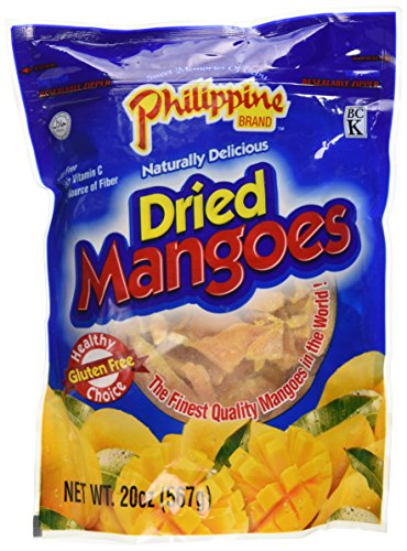 Philippine Dried Mangoes - 20 Oz. Bag - Healthy Fruit Snacks by Philippine Dried Mangoes