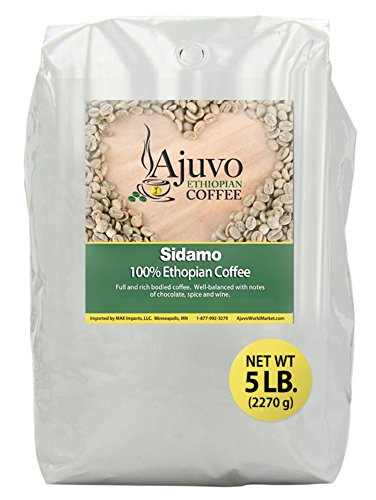 Ethiopian Sidamo Coffee - Green, Unroasted Whole Bean (5 lb.)