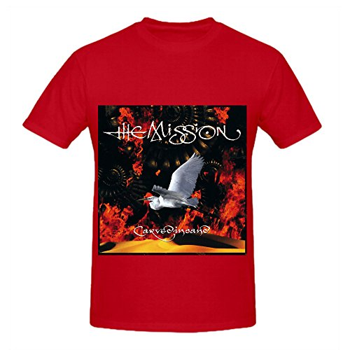 The Mission Carved In Sand Funk Men Round Neck Printed T Shirts Red