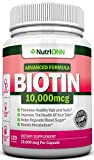 BIOTIN 10,000 MCG – 120 Capsules – Designed for Hair Growth, Strong Nails and Healthy Skin – Pharmaceutical-grade Natural d-Biotin (Vitamin B7) – Advanced Formula To Enhance Your Results For Sale