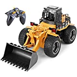 Top Race 6 Channel Full Functional Front Loader, RC Remote Control Construction Toy Tractor with Lights & Sounds 2.4Ghz…