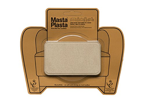MastaPlasta, Leather Repair Patch, First-aid for Sofas Car Seats, Handbags Jackets, Beige Suede Medium Plain