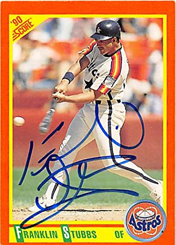 Autograph 122638 Houston Astros 1990 Score No. 40T Franklin Stubbs Autographed Baseball Card