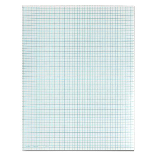 TOPS 35081 Cross Section Pads, 8 Squares, 8 1/2 x 11, White, 50 Sheets ()