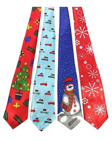 JEMYGINS Original 4PCS Christmas Tie Mens and boys Necktie for Festival (5)