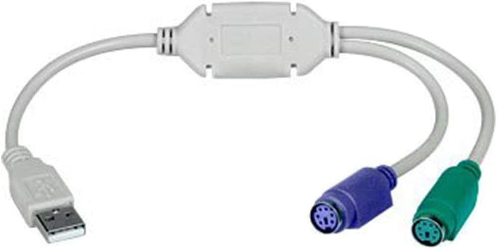 Cable Length: 0.2m Connectors USB Male to for PS2 PS//2 Female Dual Cable Adapter Converter for Keyboard Mouse KVM Switcher
