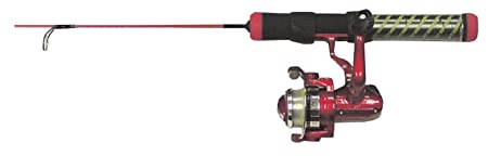 HT Enterprise RH-24LSC Red Hot Ice Fishing Rod and Reel Combination