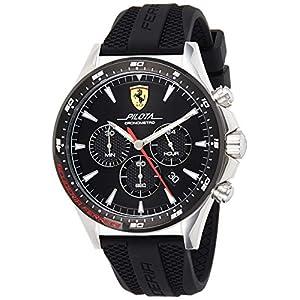 Scuderia Ferrari Hommes Chronographe Quartz Montre avec Bracelet en Silicone 830620