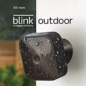 All new Blink Outdoor  wireless weather resistant HD security camera with two year battery life and motion detection