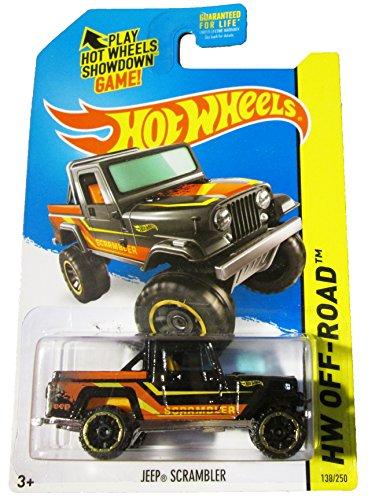 Hot Wheels - 2014 HW Off-Road 138/250 - HW Hot Trucks - Jeep Scrambler (black) by Mattel