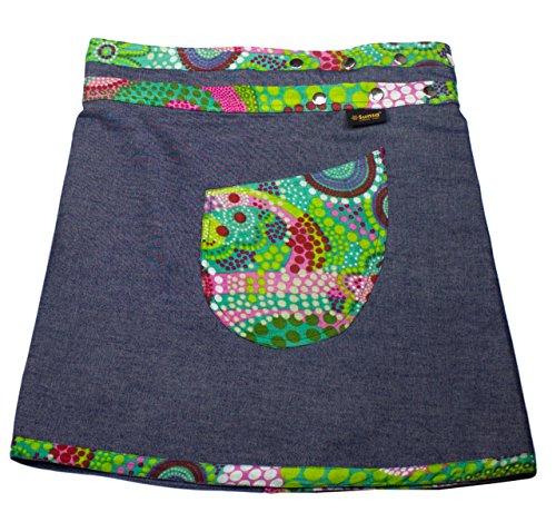 Jupe Jeans Jupe Dames Ajustable 2 Mini Jupe 15191 Jupe 1 Reversible Jupe dt Jupe Portefeuille Sunsa Taille en qftYw5