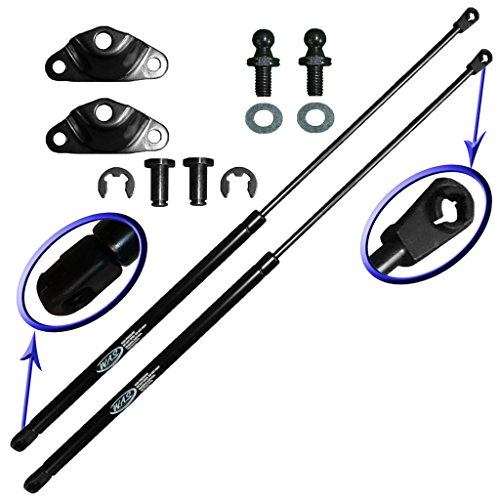 Two Rear Hatch Hatchback Liftgate Trunk Gas Charged Lift Supports for 1990-1994 Mitsubishi Eclipse Hatchback, 90-94 Plymouth Laser Hatchback, 90-94 Eagle Talon Hatchback. WGS-240-2 ()