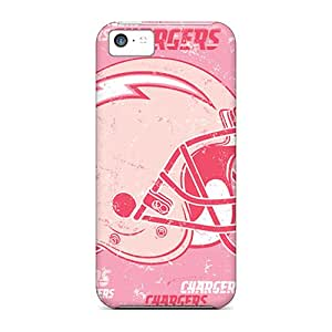 Protector Hard Phone Case For Iphone 5c (DhN15009JPFw) Unique Design Trendy San Diego Chargers Image