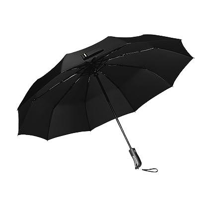 Paraguas automático/Moderno Paraguas de Doble Uso para Hombres y Mujeres/Tres Plegable Paraguas