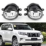 GZYF Front Fog Light, Pair Auto Bumper Fog Lamp Compatible with 2018 Toyota Land Cruiser