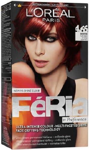 Loreal París Feria – 4.66 Pure rojo intenso rojo – tinte para cabello colorante)