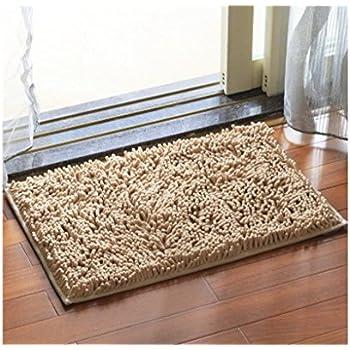 large front door matsAmazoncom  Grey and White Dandelion Art Pattern Nonslip Doormat