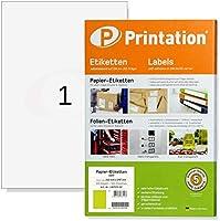 Universal Etiketten 100 Stück 210 x 297 mm weiß selbstklebend bedruckbar - 100 DIN A4 Bogen à 1x1 210x297 Labels - 3478...