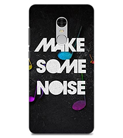 Chiraiyaa Designer Printed Premium Back Cover Case for Mi Redmi Note 4  make some noise typography   Multicolor  Maintenance, Upkeep   Repairs