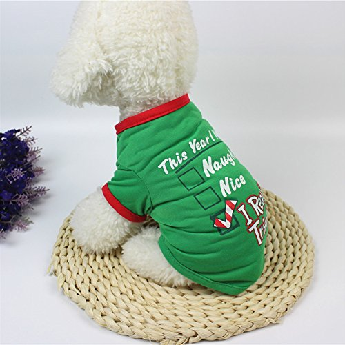 Amyove Pet Clothes,Dog Sweater Shirt Puppy Cat Pullover Hoodies Costume, Christmas Series ()