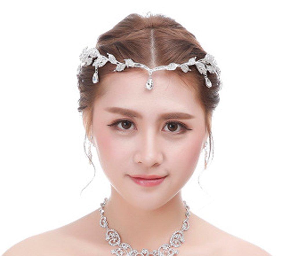 Amazon.com : Bellady Bridal Bridesmaid Wedding Headpiece Forehead ...