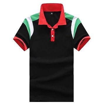 NISHISHOUZI Polo para Hombre Casual Moda Hombro Viento Colorear ...