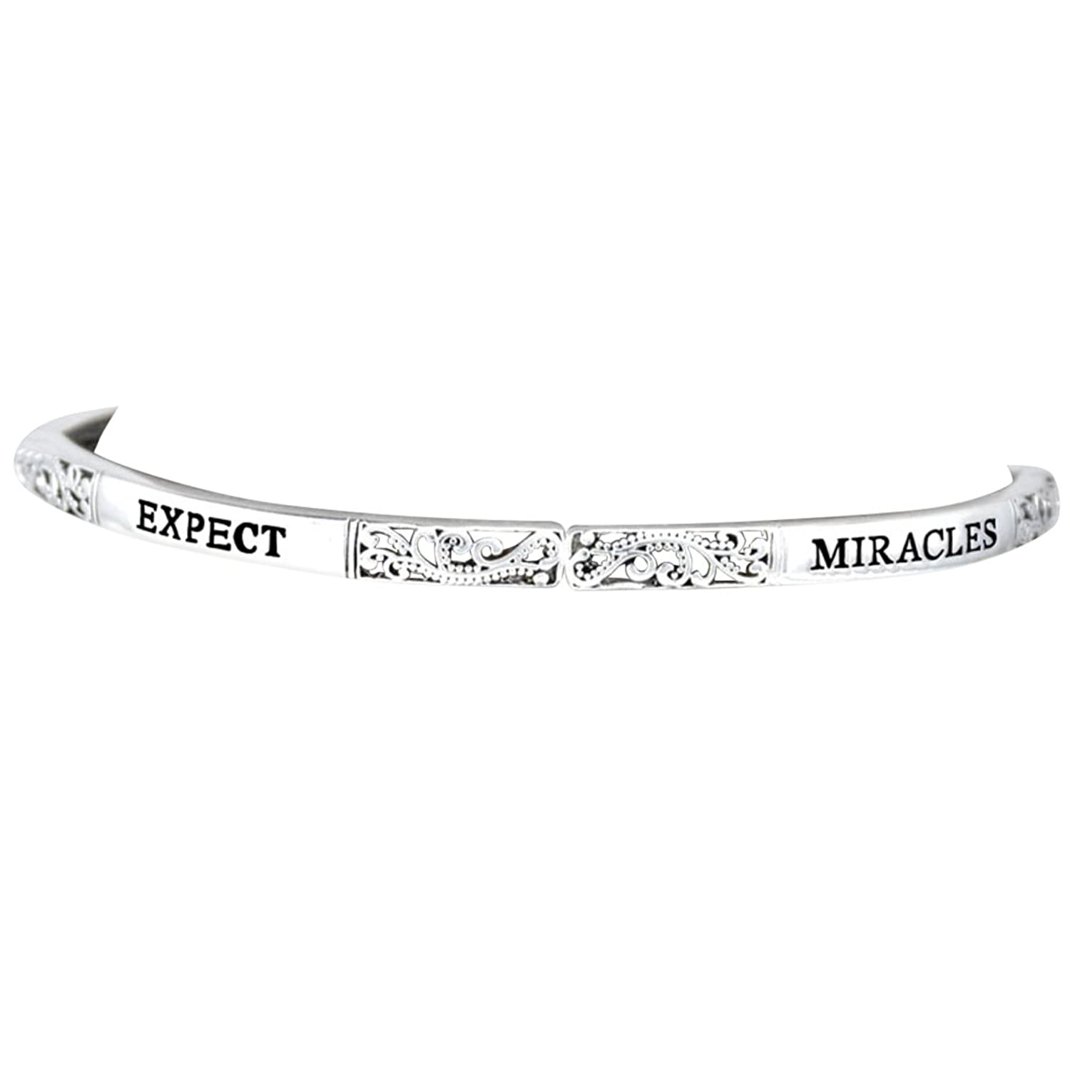 """Expect Miracles"" Stretch Adjustable Bracelet Hypoallergenic, Safe-Nickel, Lead, Free"
