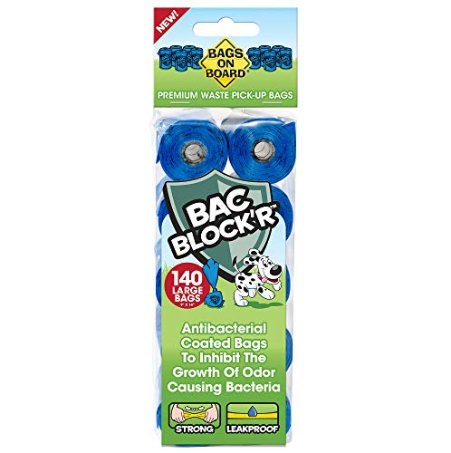 Bags On Board Dog Poop Bags   Strong, Leak Proof Dog Waste Bags   9 x14 Inches, 315 Blue Bags