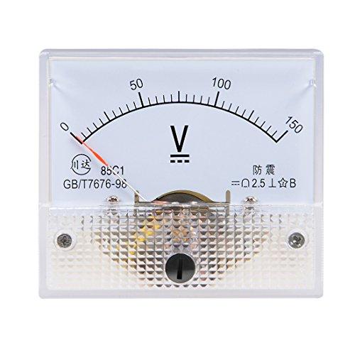 uxcell DC 0-150V Analog Panel Voltage Gauge Volt Meter 85C1 2.5% Error Margin