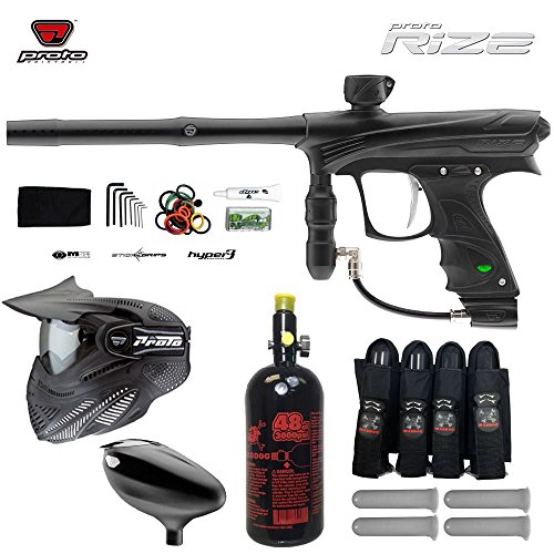 Maddog Proto Rize Paintball Marker w/ Proto Primo Hopper & FS Thermal Goggle Combo Package - Dust Black