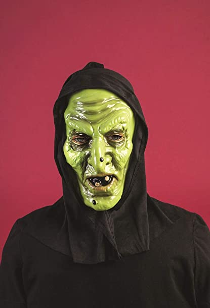 Forum Novelties Men/'s Hooded Mask-Haggard Witch Party Supplies Standard