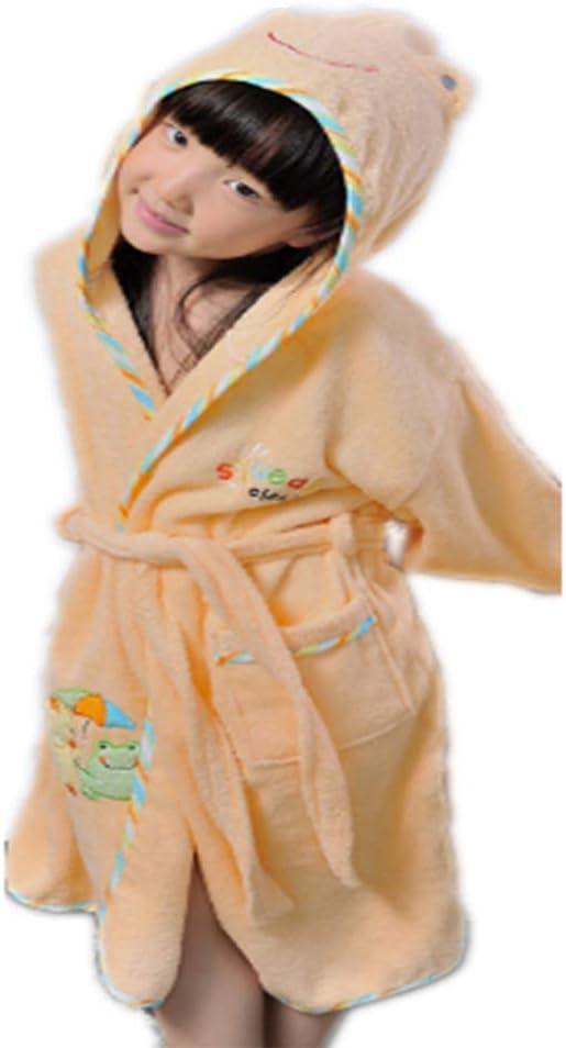ZXJ Albornoz niños, Niño de Toallas de algodón Puro Bata Bata de Dormir Robe Childrens aspirar el Agua Natación Todo el algodón Albornoz para los Bebés Niños Niñas,Flesh,M: Amazon.es: Hogar