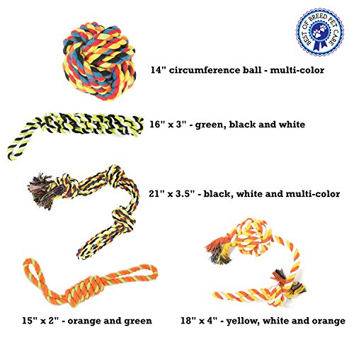 Dog-Rope-Toys-for-Large-Extra-Large-Dogs-5-Heavy-Duty-Chew-Toys-for-Aggressive-Chewers-Ideal-for-Teething-Interactive-Play-6-Pack-Including-Sling-Sack-Bag-Multicolor