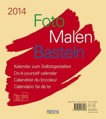 Foto - Malen - Basteln beige 2014: Kalender zum Selbstgestalten