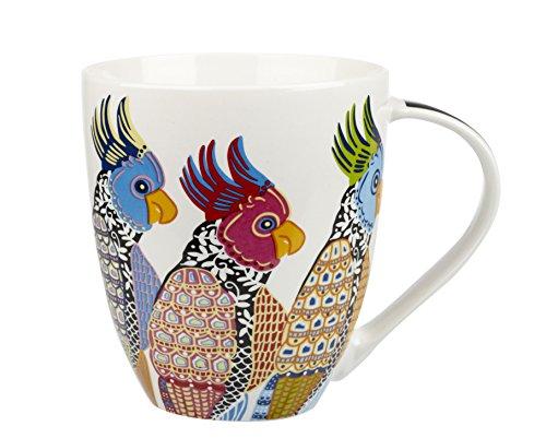 China Oven Safe Mug (Churchill Couture Parakeet Fine China Gift Coffee Mug)