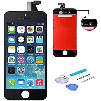 WEELPOWER Black LCD Display Replacement Screen Digitizer Touch Screen Assembly for iPhone 4S with Repair Tool(Black)