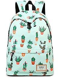 Fashion Leisure Backpack for Girls Teenage School Backpack Women Print Backpack Purse Cactus