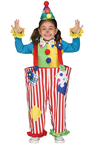 Crazy Color Clown Costumes For Kids (Crazy Clown Toddler Costume - Toddler Large)