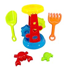 Bath Beach Sandbox Sets for Children Baby Boys Girls,Sand Water Toys,Large-sized Hourglass Set,Sandbox,Sand Tool Sets,Summer Beach Toys Set/Sand Play 1 Years Up