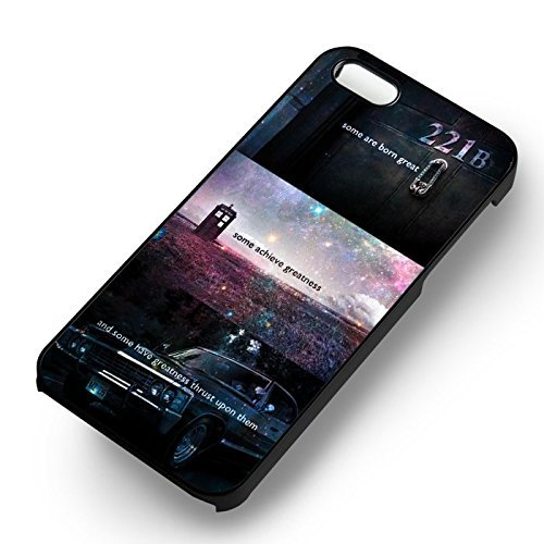 SuperWhoLock With Quote for Cover Iphone 6 and Cover Iphone 6s Case (Black Hardplastic Case) T6X3KD