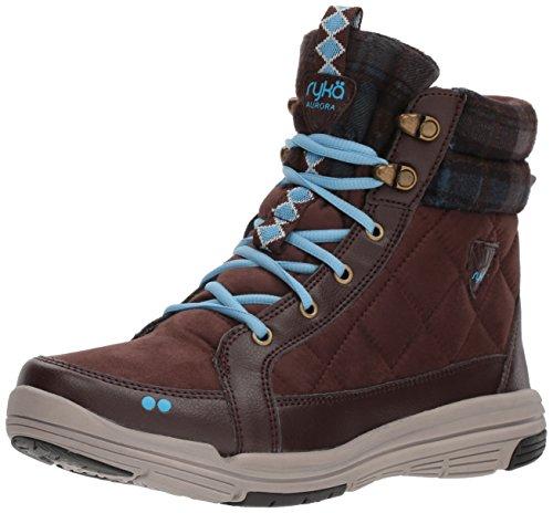 Ryka Womens Aurora Fashion Boot, Roasted Chestnut/NC Blue/Sidewalk, 9 W US
