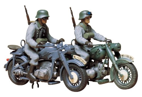 Tamiya 35023 1/35 German Motorcycle Zundapp KS750 & BMW R75