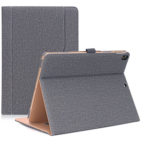 ProCase iPad Pro 10.5 Case - Vintage Stand Folio Case Cover for Apple iPad Pro 10.5 Inch 2017, Multiple Viewing Angles, with Apple Pencil Holder -Grey