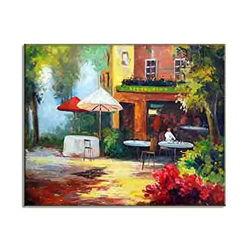 Fine Art Pictures Giclee Print On Canvas Classy Street Scene French Style Bistro Patisserie Cafe Restaurant Elegant Home Decor C4050